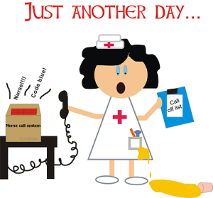 stressed out nurse