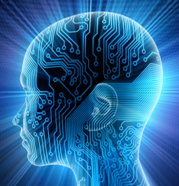 brain and computer chip